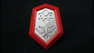 LEGO 3D Printed Mirror Shield (Ocarina of Time) by mingles