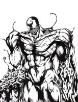 The Venom Flows B+W - WIP by seanpt
