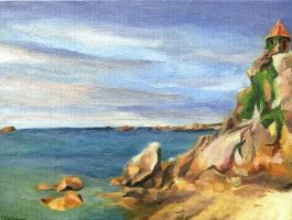Tiny Paintings: Port-Blanc by gloriouskyle