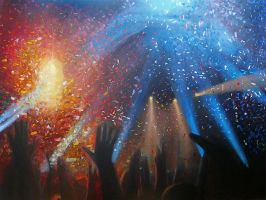 LIVE on big canvas IV by ArtAnda