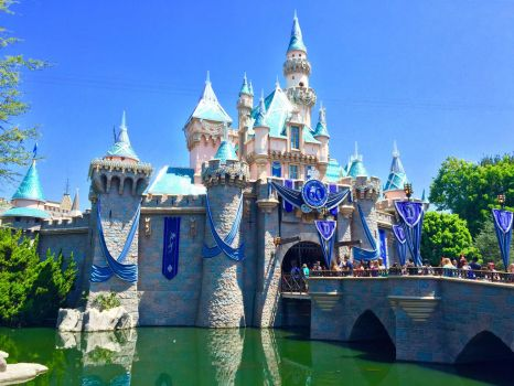 Disneyland 60th Anniversary Castle by firegirl1995