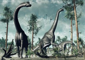 Brachiosaurus - TIME WARS by Nytcrawler