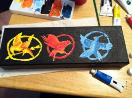 Hunger Games Series Painting by mpissott