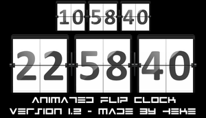 Animated Flip Clock by hekee