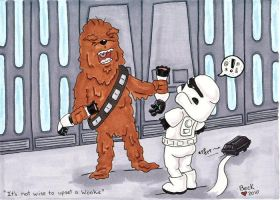 Wookie arm rip by beckadoodles