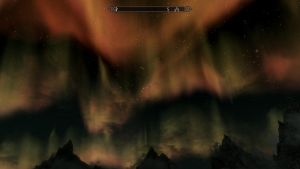 Beautiful Skyrim Night by DarkAngelLover1