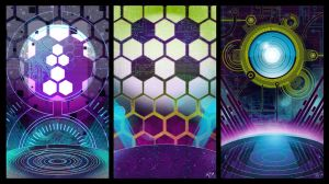 Cyberish Backgrounds by Channel-Square