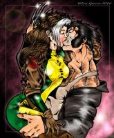 Rogue and Wolverine Fanart by Erinbabe