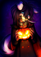 He carved a pumpkin! by Neotheta