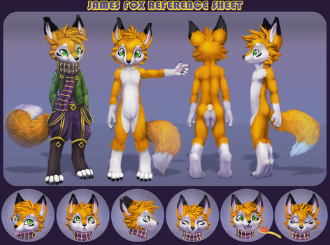 James Fox - Neutral version Character Sheet by jamesfoxbr