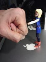 android 18 fist bump by gamemaster8910