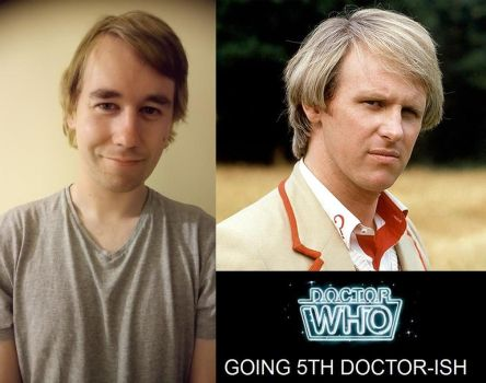Dr.Who - Gone blonde like a young Peter Davison by DoctorWhoOne