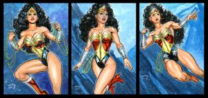 WONDER WOMAN BYRNE ERA PERSONAL SKETCH CARDS by AHochrein2010