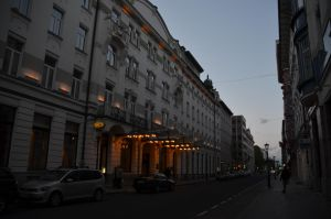 City Street at Dusk 2 by Very-Free-Stock