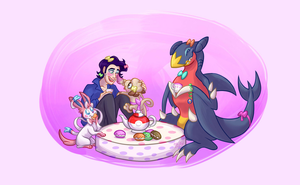 Poke Princess Tea Party by aliceapproved
