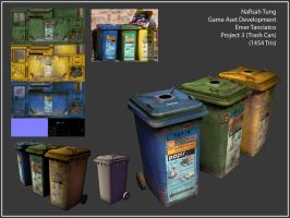 3D- the Trash Can Trio by Tyshea