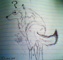 Wolf drawing... by LouaWolf