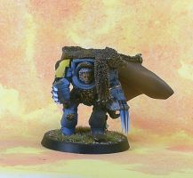 Space Wolves Wolf Guard Terminator 1 by darkcornerpainting