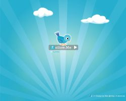 Twitter f.ollow.me wallpaper by rikulu