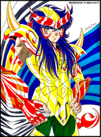MILO DE ESCORPIO-SAINT SEIYA  (MARKER-COLOR) by MUERTITO69