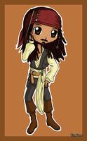 ArtTrade- Jack Sparrow Chibi by KrazyPerson