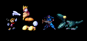 Rayman 1 Funny Sprite Creation by SquizCat