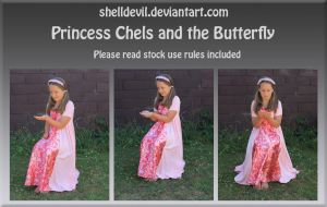 Princess Chels and the butterfly by shelldevil