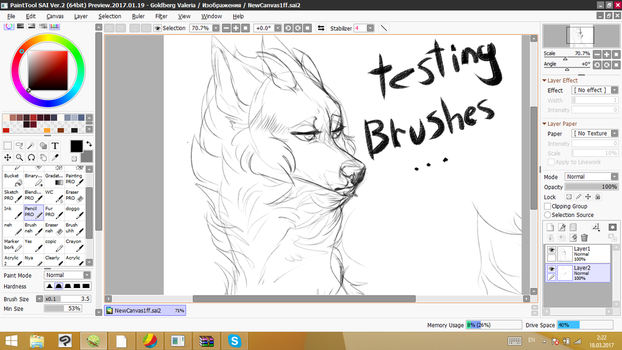 Testing Brushes + wip by VALerieEclipse