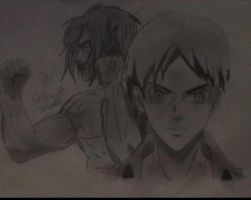 eren jaeger both forms by captonstu