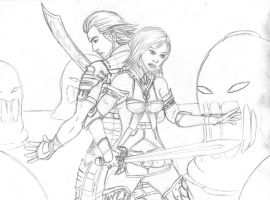 Ashe and Basch by shadowyzman
