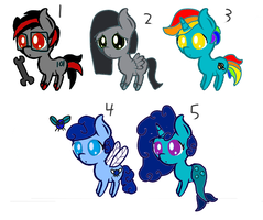 Pony adoptables (closed) by DAGooeyBaumbs