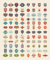 100 Free Vector Vintage Badges Stickers  Stamps by Designbolts