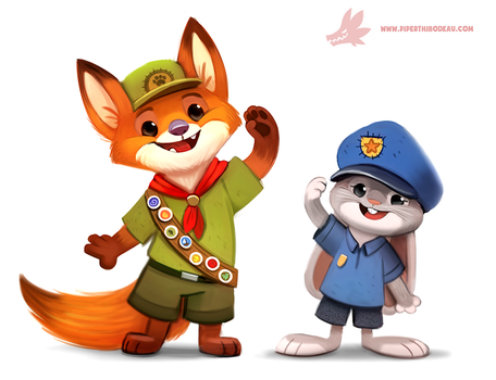 Zootopia - Nick and Judy by Cryptid-Creations
