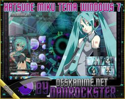 Hatsune Miku Theme Windows 7 by Danrockster