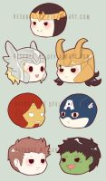 avengers magnets by resubee