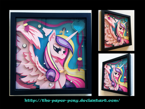 2016 Everfree NW Exclusive Cadence Shadowbox by The-Paper-Pony