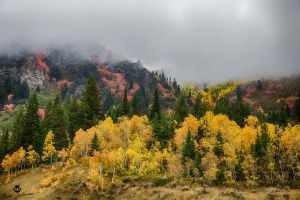 Rolling Clouds and Autumn Hills by mjohanson