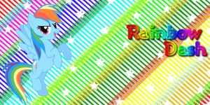 (REQUEST) Rainbow Dash Twitter Header by AceofPonies