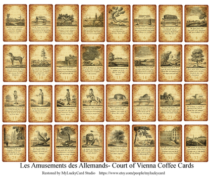 Amusements des Allemandes Coffee Cards RESTORED! by primavistax