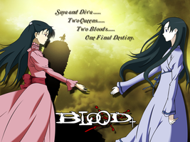Saya and Diva Blood+ by avenger504