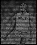 Usain Bolt - Text Portrait by BenHeine