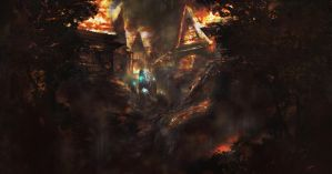 KOBO: Hometown On Fire by JackEavesArt