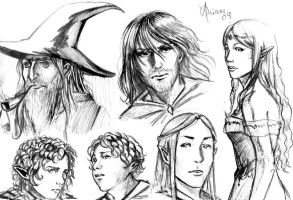 Lord of The Rings-Sketch by Luaprata91