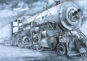 locomotive by Kasiarzynka