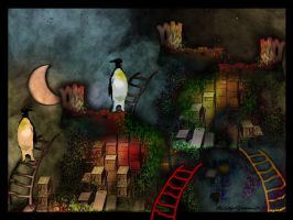 The Penguins' Castle by altergromit