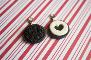 polymer clay mini oreo best friend charms by l337Jacqui