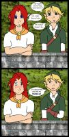 Link + Malon-What Time is it? by ShadowDoppleganger