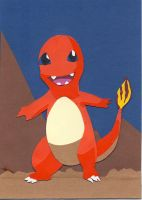 A Charming Charmander paper cutting by wandering-pen