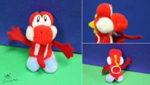 Stanley the Pop-Pom (Red) Yoshi by MeMiMouse