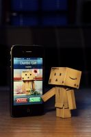 Danbo Girl mobile by Hemaka86